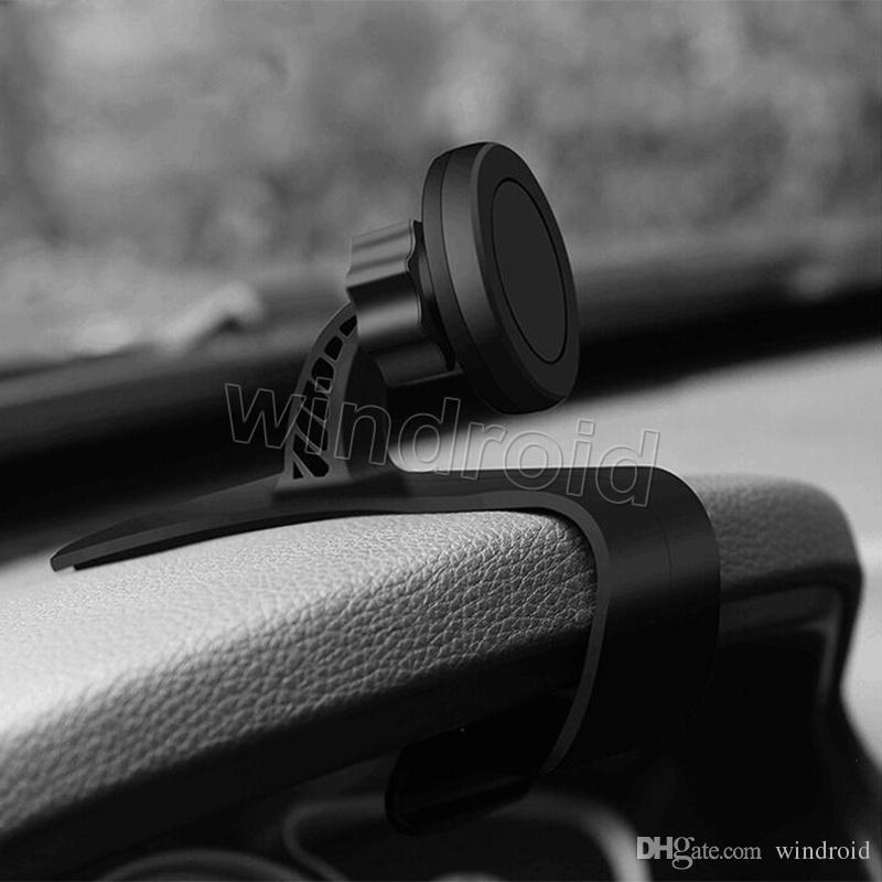 العالمي المغناطيسي سيارة جبل حامل الهاتف لوحة القيادة المغناطيس دعم موقف الهاتف مع لاصقة للقيادة الآمنة للهاتف الخليوي iphone X i8