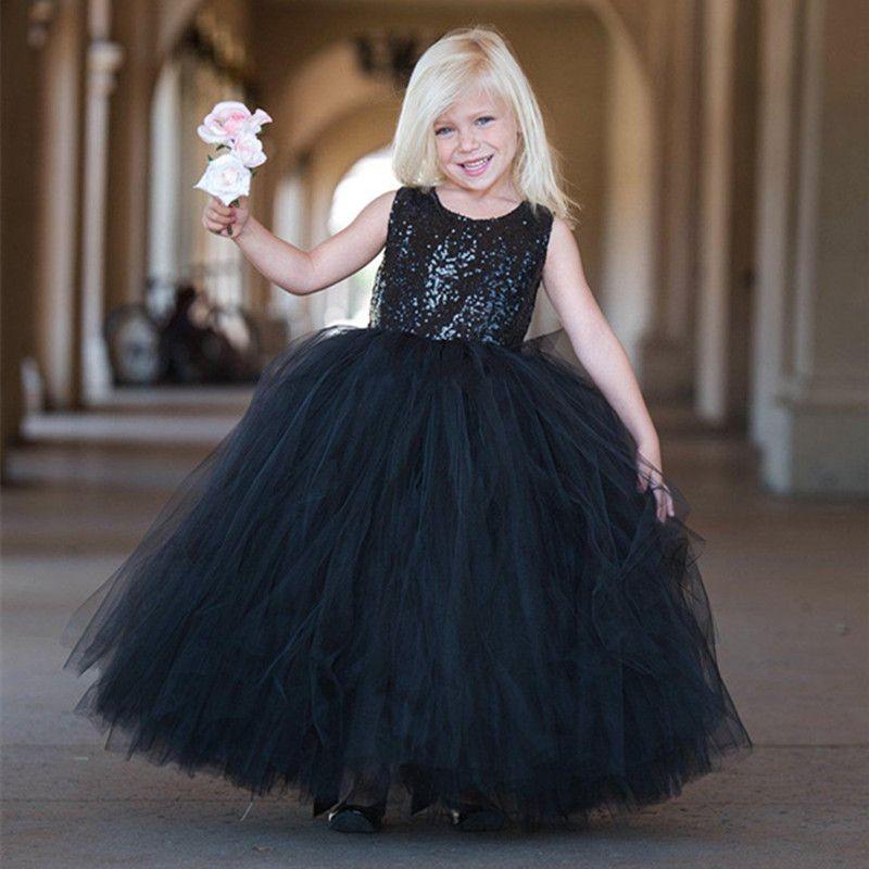 e4eafc43703 Ball Gown Princess Tulle Flower Girl Dress Sequin Top Kids Birthday Dress  Children Girls Pageant Dresses Toddler Girl Dress Beautiful Dress For Girl  From ...