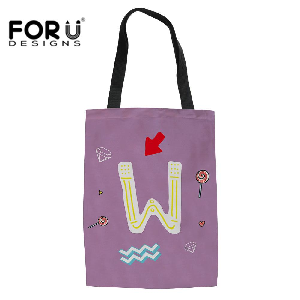 63e12984823 FORUDESIGNS Reusable Grocery Produce Bags Letter Pattern Ecology Market Shopping  Tote Bag Kitchen Fruits Vegetables Hanging Bag Wine Bags Wholesale Best ...