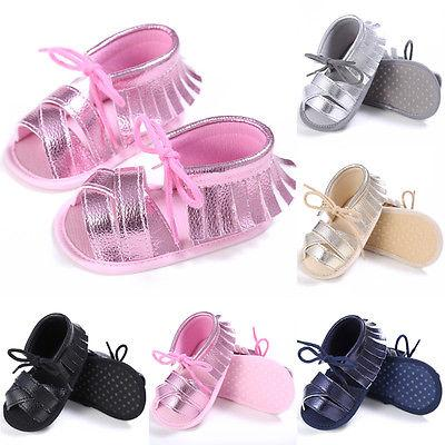 Toddler Baby Girls Sandals Shoes Newborn Baby Summer Beach Sandals ... 8793c3272745