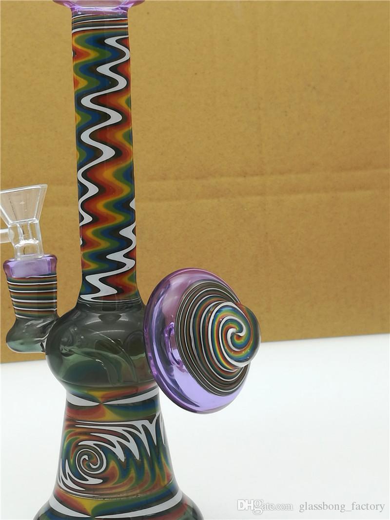 L'ultimo coloratissimo fiore colorato a mano unico bong Tubo dell'acqua in vetro Heady con scodella in vetro rig dab rig