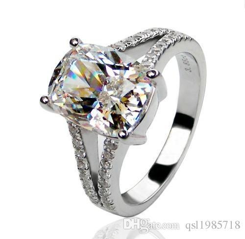 Grosshandel 3 85ct Synthetische Diamanten Verlobungsring Solide 925