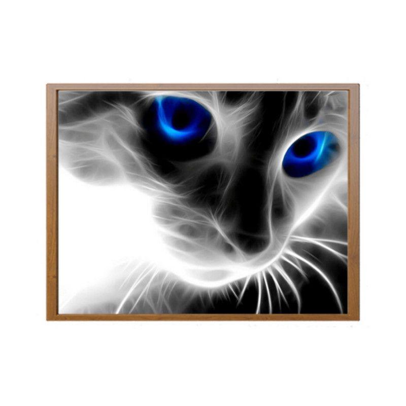 884e07017996cb Acheter Yeux Bleus Créatifs Petit Chat Noir Diamant Peinture Plein Diamant  5d Diamant Bricolage Peinture Décoration De  4.68 Du Shawli 201314    DHgate.Com