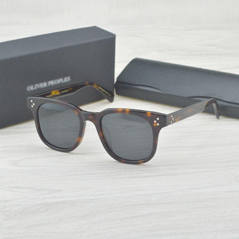 f4baef6f5 Compre Moda Polarizada Óculos De Sol Afton Designer Oliver Peoples Marca  Ov5236 Vintage Óculos De Sol Dos Homens Oculos De Sol Masculinos De Neimai,  ...