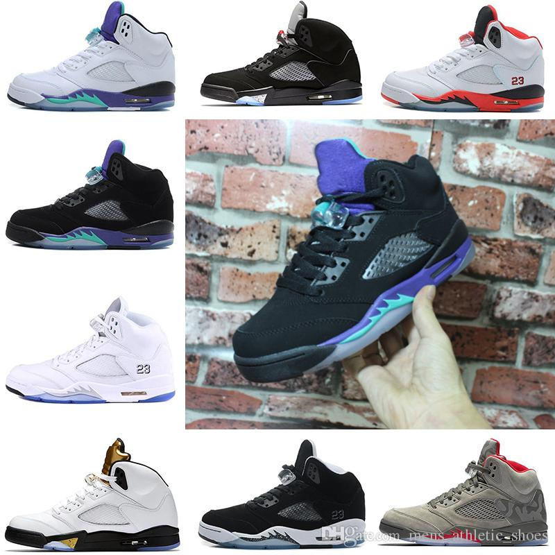 6a0629b6140e 2019 Men Basketball Shoes 5 5s Black Grape International Flight Mens Sports  Shoes Camo Grey OG Black Metallic Designer Sneakers Trainers US 7 13 From  ...