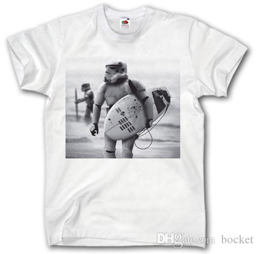Top tee Surfing T Shirt S-XXXL StormTrooper Darth Vader vintage style funny