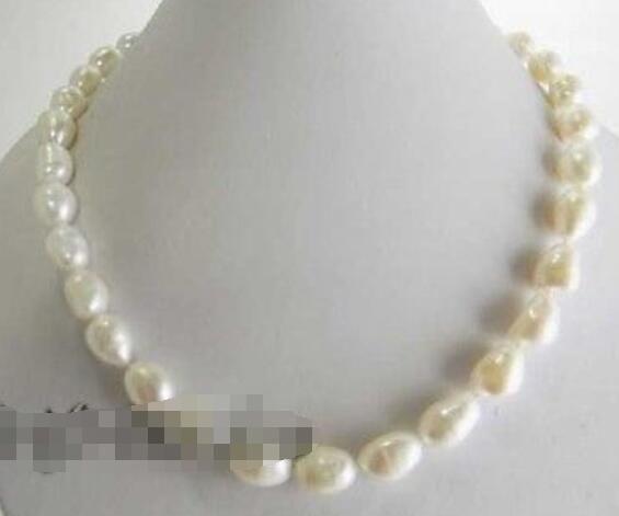 74f4fbf959fc Compre Collar De Perlas De Agua Dulce Barroco Blanco De 18    9 10mm A   17.96 Del Yongheng jewelry
