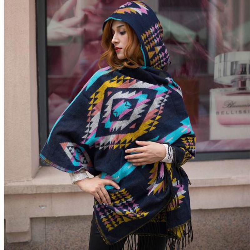 LaMaxPa Women Winter Poncho Cape Classic Oversize Cloak Femme Elegant Retro Cape Mujer Elegante Capa Frau Umhang Vrouwen Mantel
