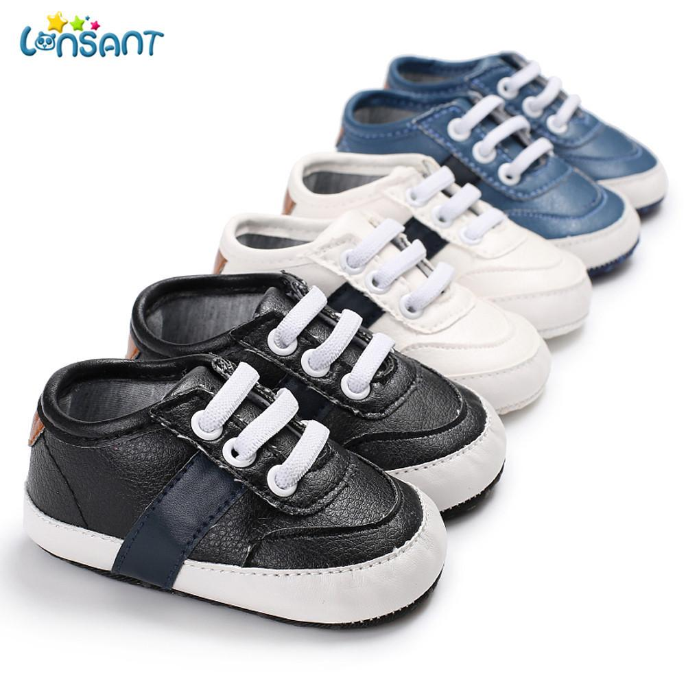 2018 LONSANT 2018 First Walkers Comfortable Baby Girl Boys Frenulum Letter  Shoes Sneaker Anti Slip Shoes PU Cloth Soft From Cassial 1fbf4bdb3a56