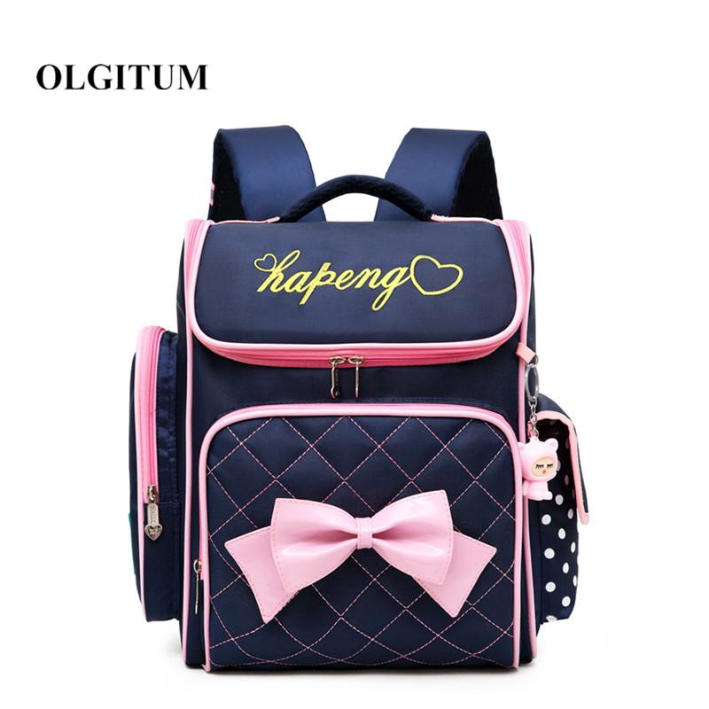 7385b9034d New Children School Bags High Quality Waterproof Backpacks For Girl  Orthopedic Schoolbag Cute Bow Child Book Bag Escola Girls Backpacks Satchel  Bags From ...