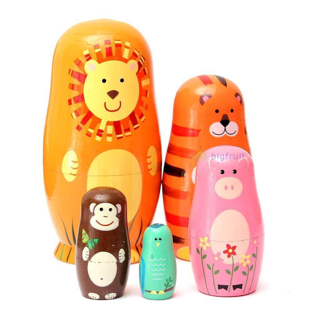 Großhandel Großhandels Bunte Tier Hölzerne Russische Puppen ...