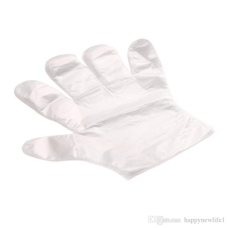 100 pezzi / set guanti monouso in plastica monouso ecologici alimenti / pulizia / cottura accessori cucine