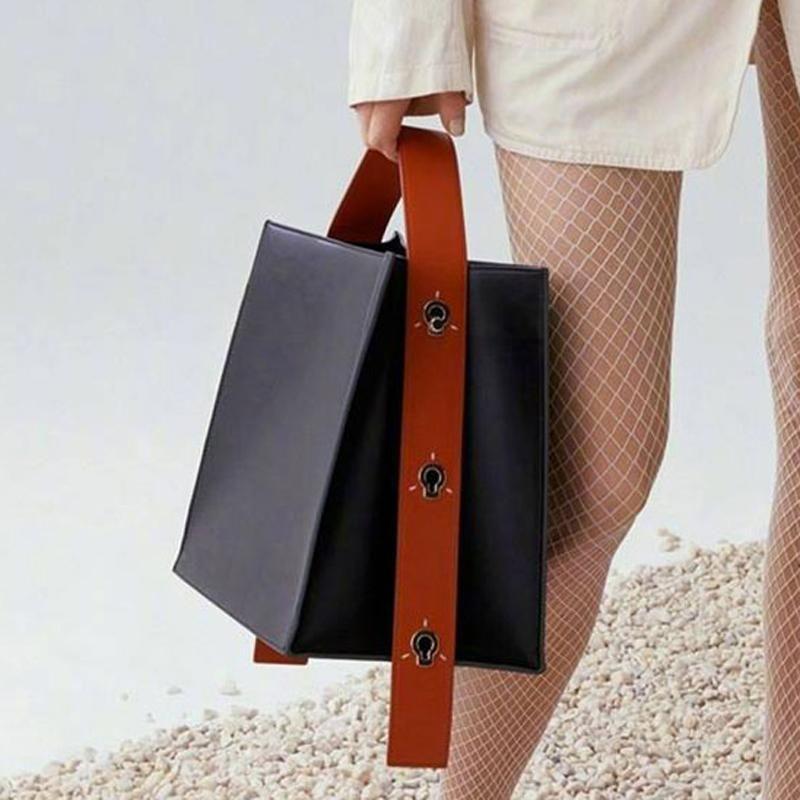 4ba330e2fc5a Maihui Women Leather Handbags Ladies Patchwork Pattern Top-handle ...