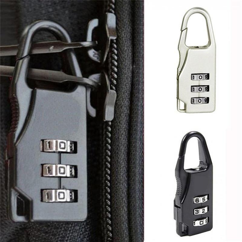 f0f2167915b7 Compre Mini Candado Maleta De Viaje Equipaje Seguridad Contraseña Cerradura  Bolsa De Combinación De 3 Dígitos Partes Accesorios A  32.84 Del Shoesbuddy  ...