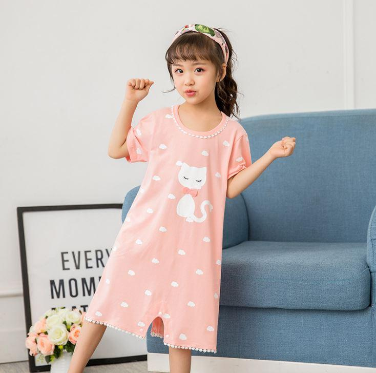 3a78d5f8e Compre Listagem Do Novo 2018 Crianças Roupas Meninas Pijamas De Algodão Do  Bebê Princesa Camisola Crianças Roupas Em Casa Menina Pijamas De Hanlley