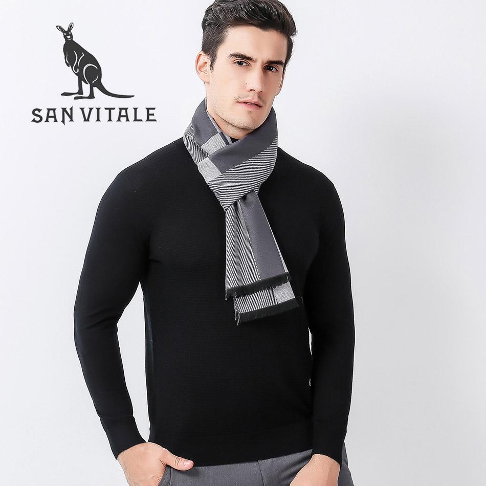 Acquista Sciarpe Da Uomo Sciarpa In Pizzo Hijab Autunno Inverno Moda Inverno  Caldo Vestiti In Cashmere Scozzese Abito Di Marca Di Lusso A  20.17 Dal ... d0b157d16217