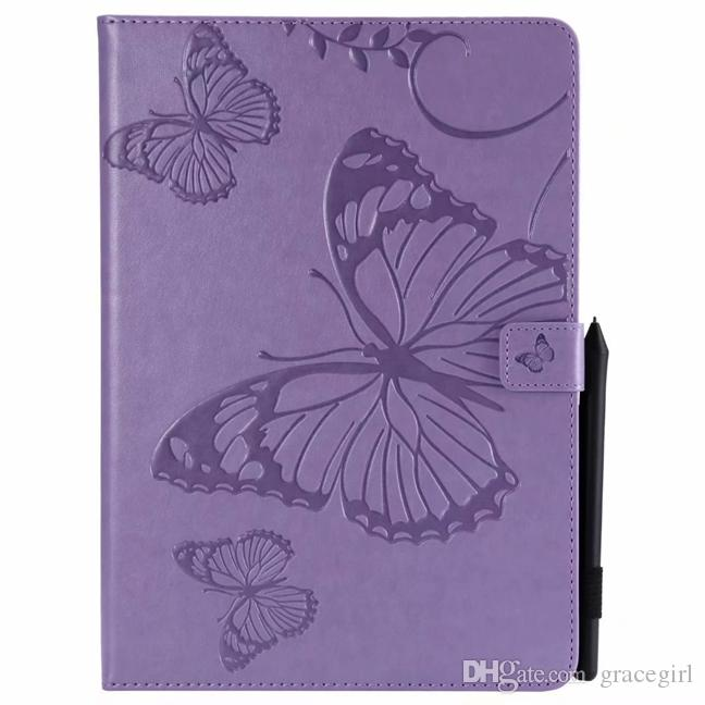 fashion butterfly wallet leather case for ipad air 2 5th 6th pro 9 7