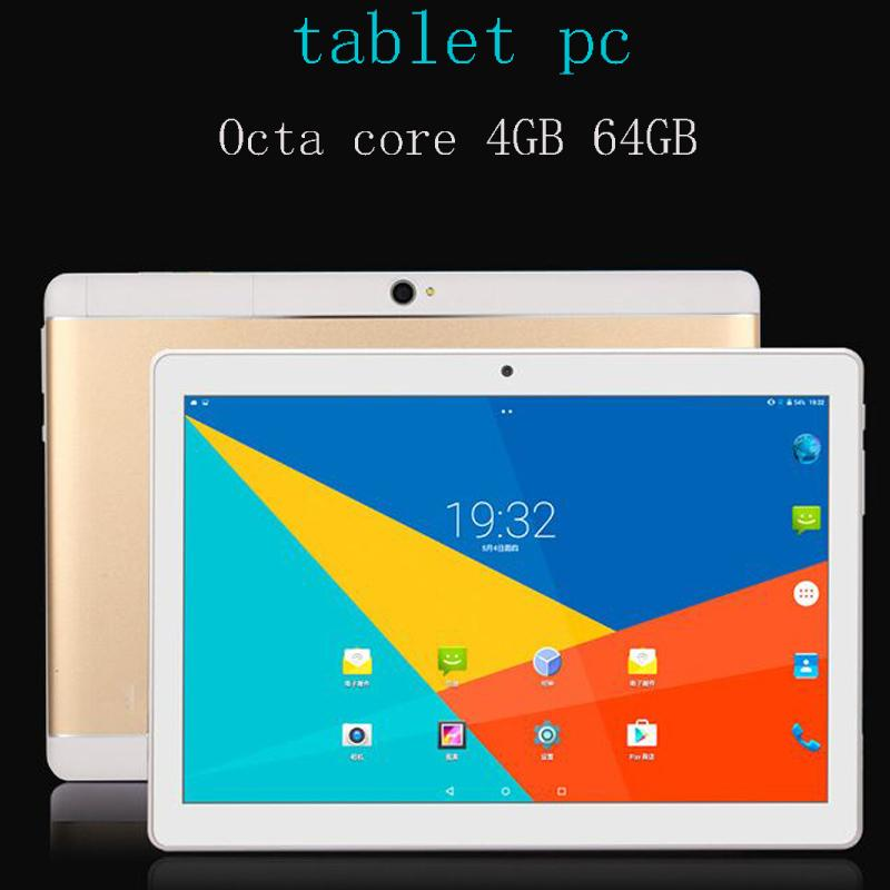 Free Shipping 10 1 inch Octa core 4GB 64GB Android 7 0 4G LTE smartphone  tablet pc 1920*1200 HD IPS wifi Bluetooth GPS tablets