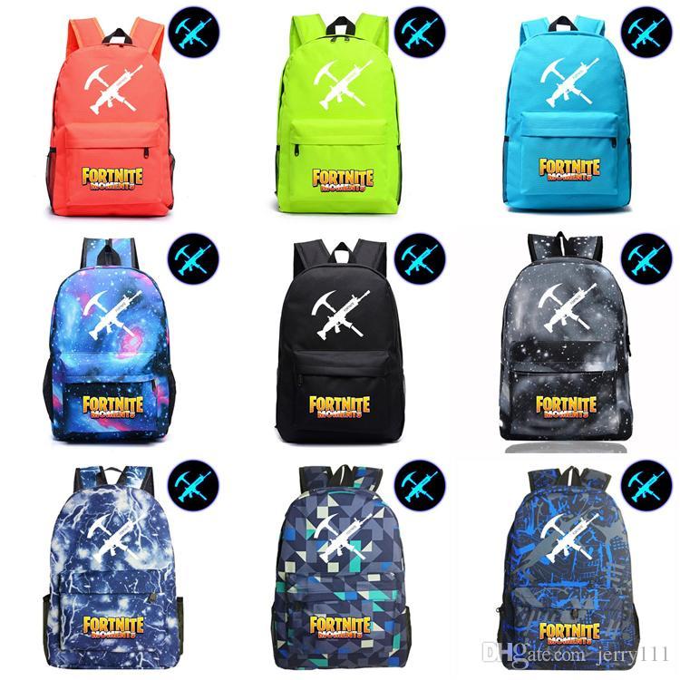 Fortnite Noctilucous Luminous Backpacks For Boys Girls Fortnite