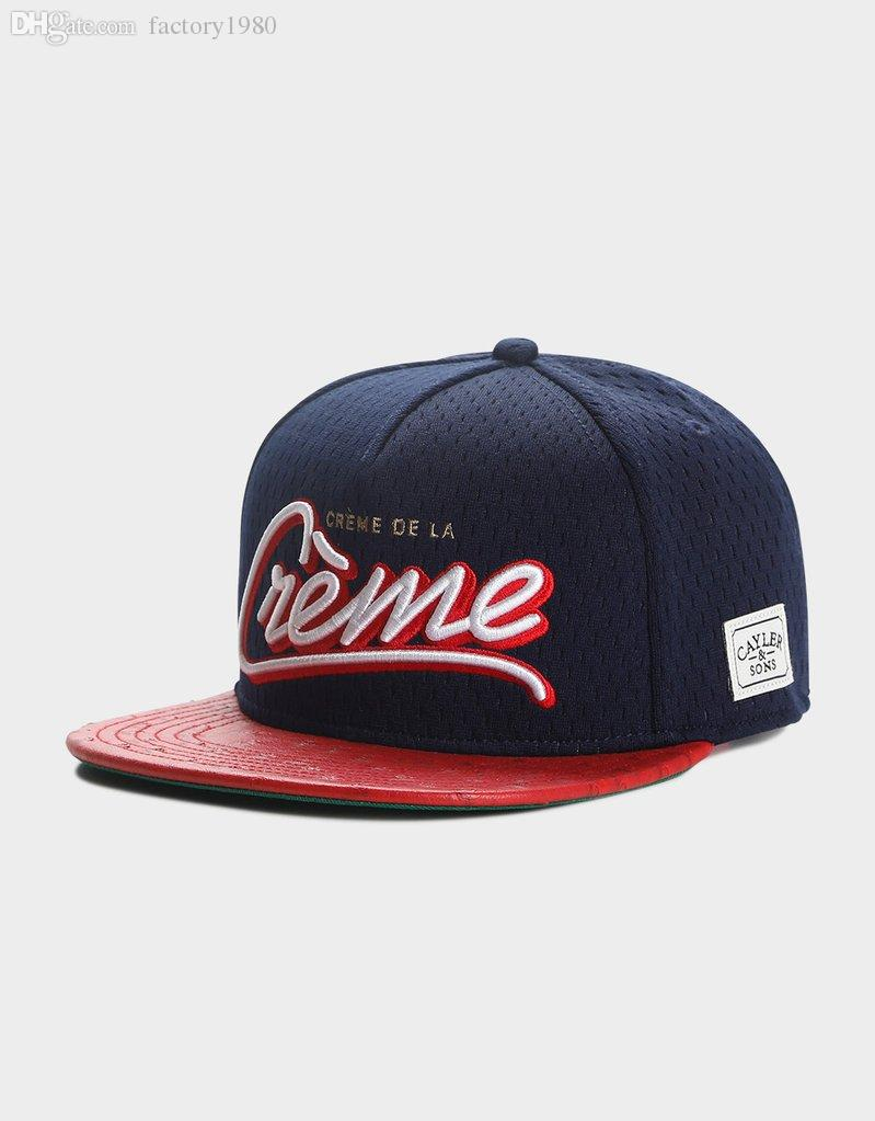 b7c3bd2a free shipping adjustable bboy gorras navy red white C&S WL CDE LA CREME CAP  100% polyester hip hop summen man woman snapbacks