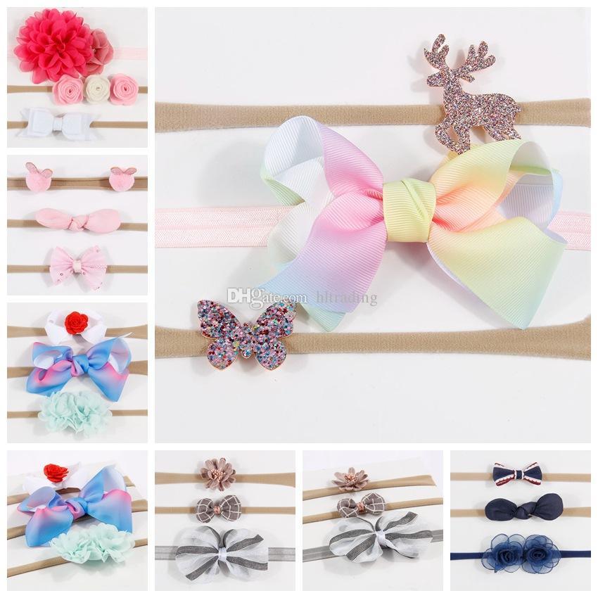 2f19b58a484f Baby Girls Deer Headband Set Kids Flower Hair Bows Children Hair Band  Rabbit Ears Hair Accessories Set C4930 Hair Accessories Clips Hair  Accessories For ...