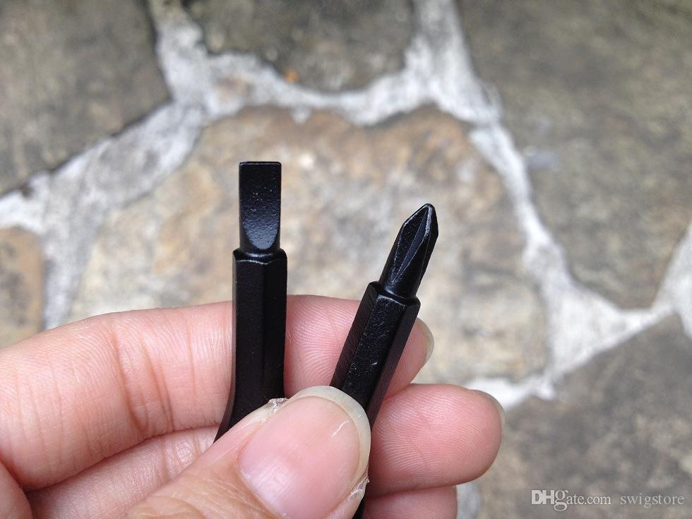 Chaves de fenda Chaveiro Ao Ar Livre Bolso Mini Chave De Fenda Set Chave Anel Com Slotted Phillips Mão Chave Pingentes