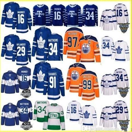 23343bb07a8 91 John Tavares Hockey 97 Connor McDavid MEN Youth Women Toronto ...