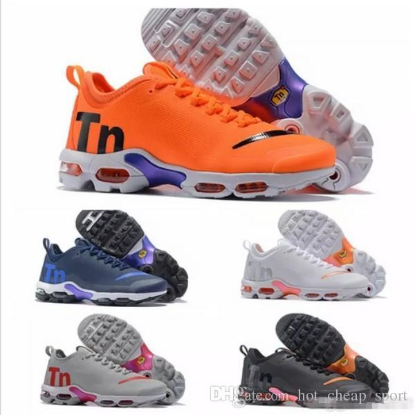 c31a527331f7dd 2018 New Mercurial Tn Plus 2 TE Air Running Shoes Chaussures Orange ...