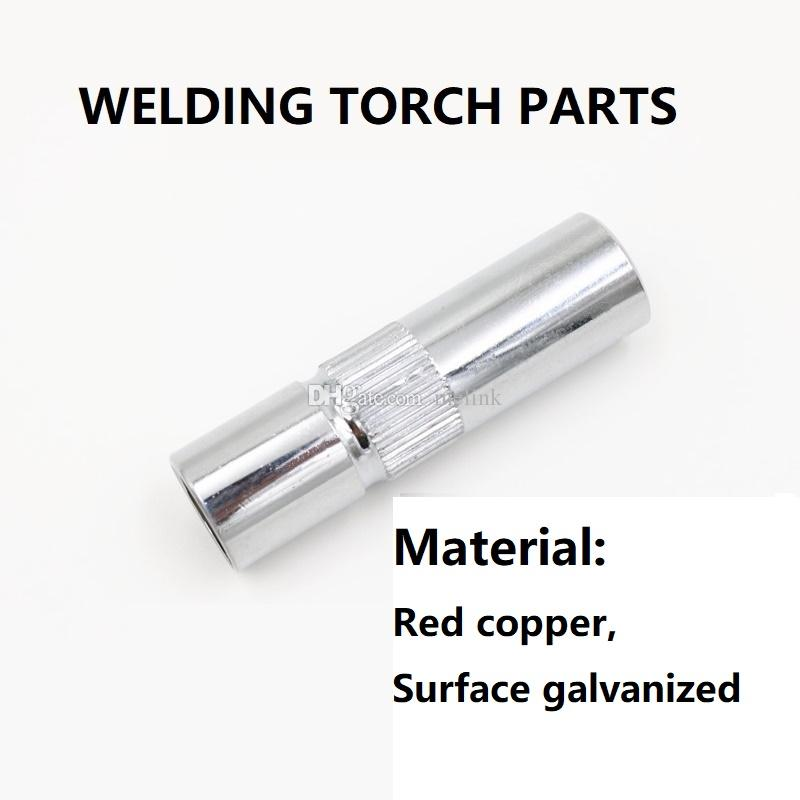 MIG / MAG CO2 Welding torch Gas nozzle Protective mouth for 350 A Red copper Surface galvanized Welding accessories High quality Good price