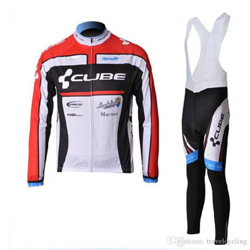 a82d86de8 2018 CUBE Long Sleeve Cycling Jersey Set Mountain Bike Clothes Wear ...