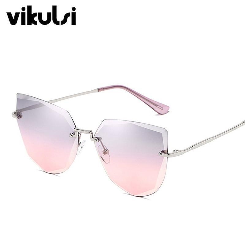 5cea522168 Ladies Luxury Cat Eye Sunglasses Women Gradient Color Sun Glasses Vintage Brand  Designer Grey Pink Shades Eyewear Oculos UV400 Online with  29.66 Piece on  ...