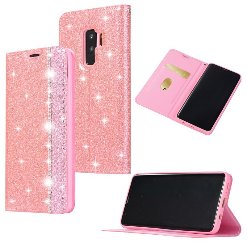 Bling Glitter Flip Wallet Case For Samsung Galaxy Note9 S9 S8 Plus Magnetic Leather Card Holder Cover For Samsung Note 9 8 Coque