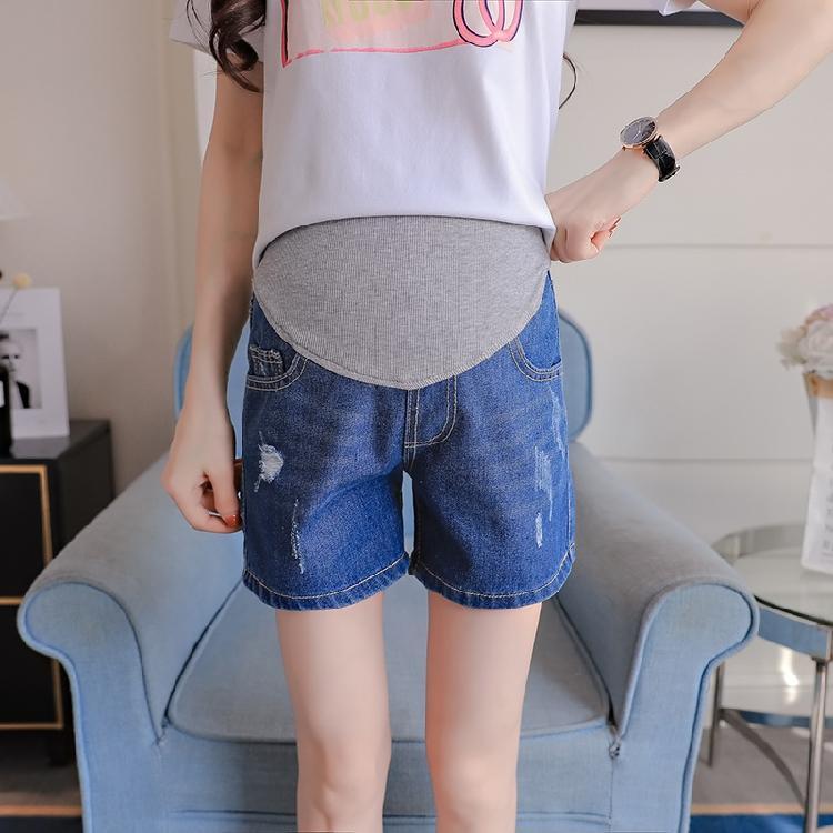 fe3bda506cc 2019 Elastic Waist High Waist Belly Denim Maternity Shorts Summer Fashion  Short Jeans Clothes For Pregnant Women 2018 Pregnancy From Mingway245
