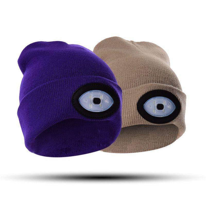 1509b95d692cb LED Lamp Cap Mountaineering Night Fishing Hats LED Luminous Hat Night  Repair Wool Caps Beanie Hot Sale 25fz Gg Beanies For Girls Baby Hat From  Sd005