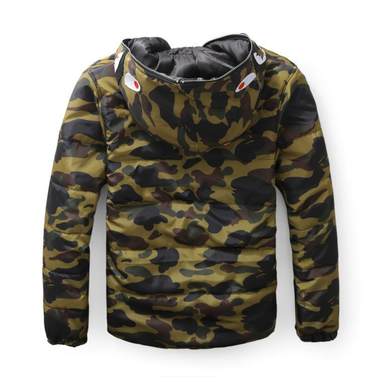 e5b5916a39a6d 2019 Male Tide Shark Animal Printing Sleeve Head Camouflage Thickening  Cotton Sweater Caps Casual Coat Sereetwear Hoodies From Damon568