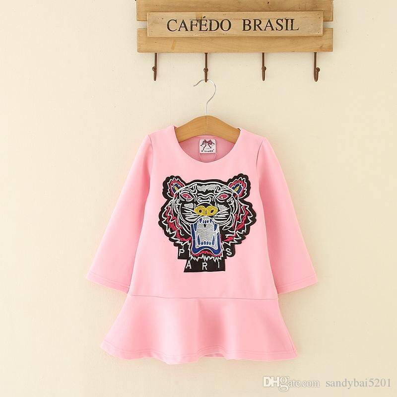 da4ff5ac3 Kids Girl Dress Baby Girl Cartoon Dresses 2018 New Autumn Infant ...