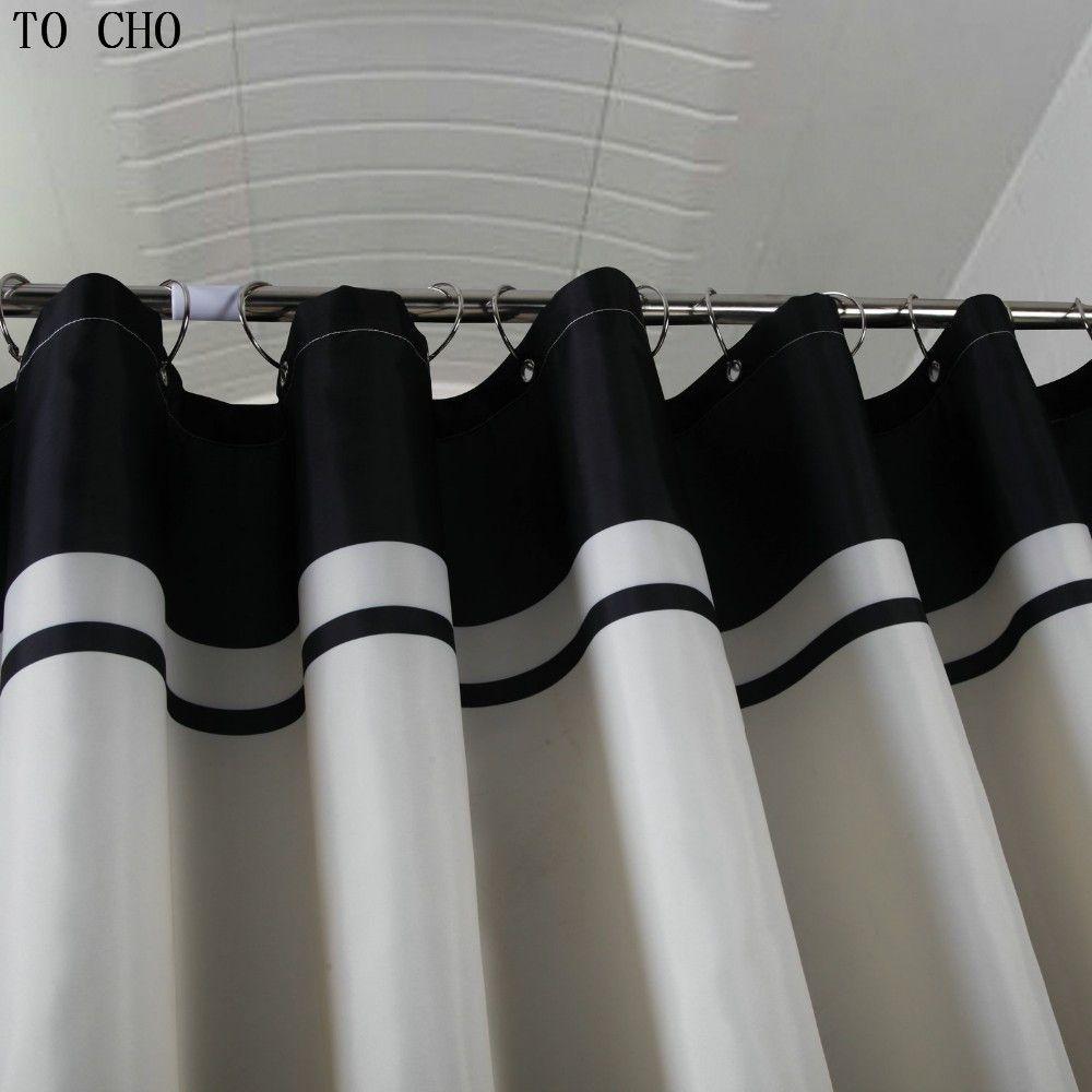 2018 Royal Crown White Fabric Bathroom Shower Curtain Liner W ...