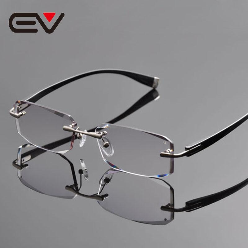 ccfcc4b5df 2019 2016 New Elite Brand Pure Titanium Rimless Eyeglasses Frames Men  Diamond Cutting Myopia Hyperopia Optical Glasses EV1264 From Haydena