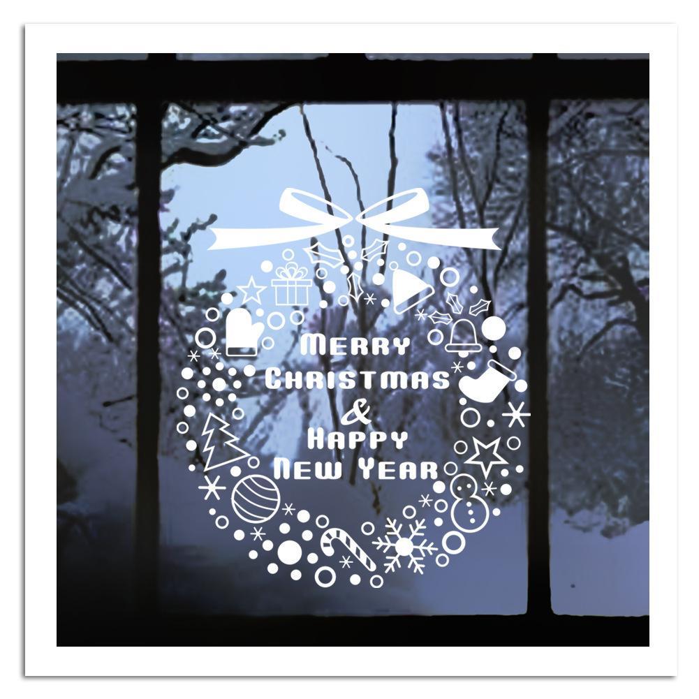Satın Al Hediye Kar Rüzgar Chime Yılbaşı Ağacı Duvar Sticker Noel