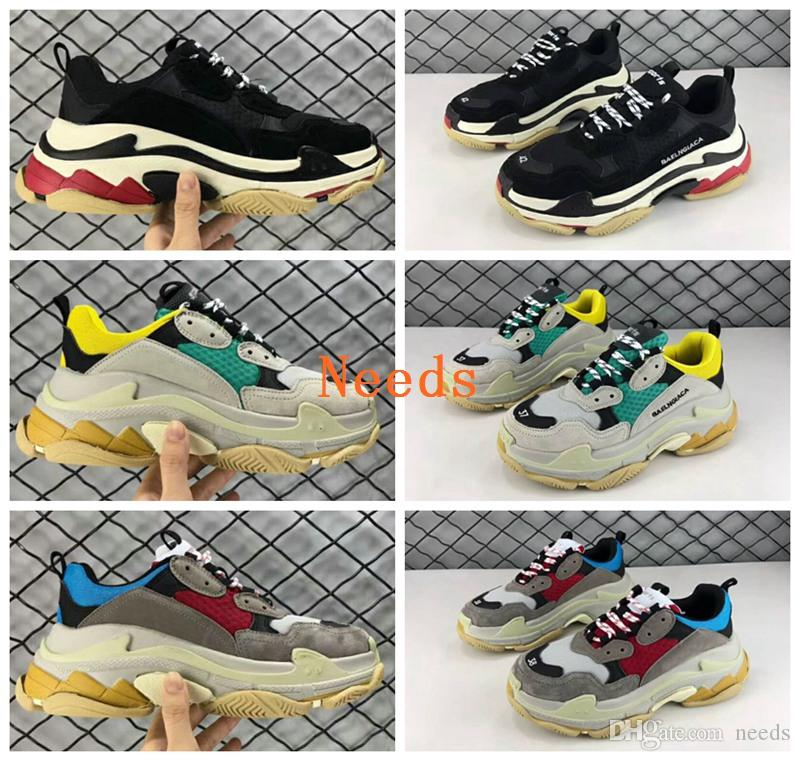 Barato Sale 2018 Paris Triple S Luxury Sneakers Zapatos Unisex Low Top Sneakers Luxury 18486e