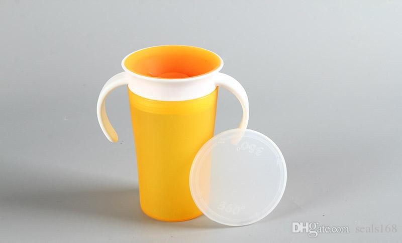 9oz 360 Degree Magic Trainer Cup Non-BPA Baby Infant leak-proof Drinking Water Cup Bottle 260ML Mug Cups Gifts HH7-843