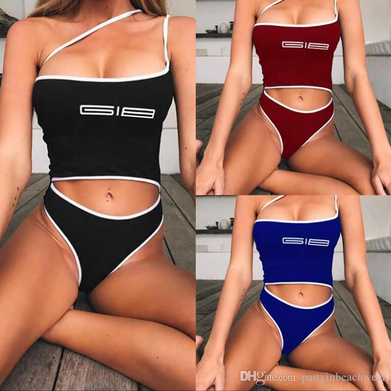 fdfb0313f3 2019 New Women Swimwear Printing Crop Top Thong Tankinis Bikinis Summer  Beach Two Piece Swimsuit Sexy Padded Bra Bathing Suit Swimming Beachwear  From ...