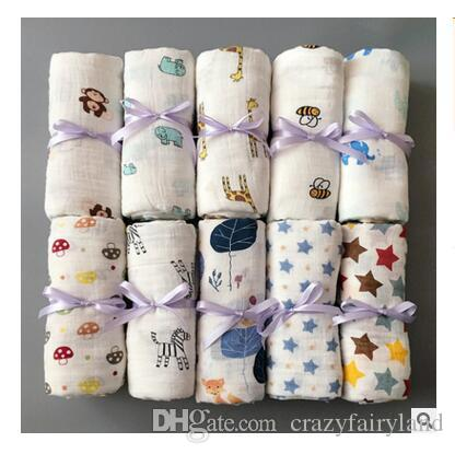 Newborn Blankets 74 Styles Cotton Baby Swaddles Soft Bath Gauze Infant Wrap Sleepsack Stroller Cover Play Mat DHL Free Shipping