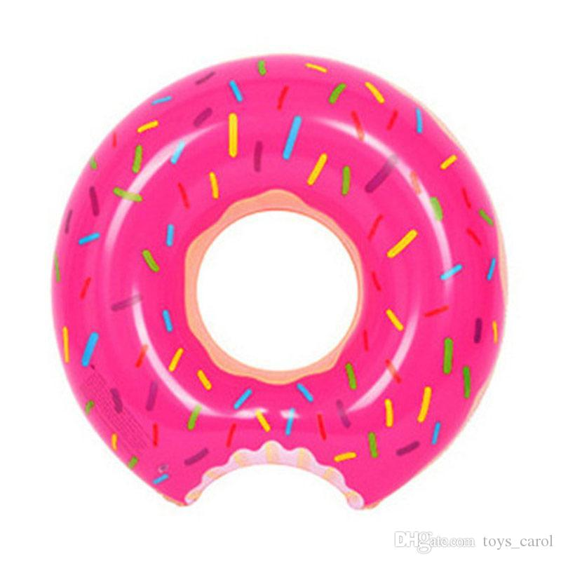 Inflatable Doughnut PVC Floatie Lounge Cushion Toys Summer Swmming Pool Raft Fun Adults Kids Swim Party Toys