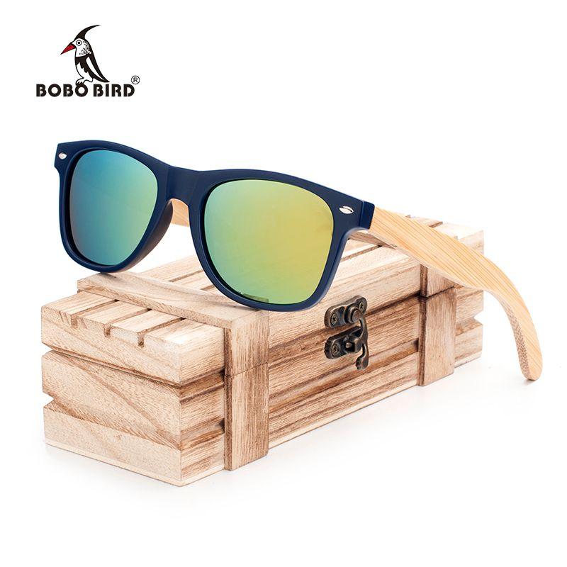 Bobo bird new mulheres moda revestido de madeira de bambu polarizada  titular óculos de sol com caixa de madeira de varejo legal praia óculos de  sol cg005-c 53a533c2c8