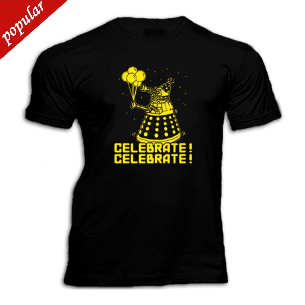 c8824e6db DOCTOR WHO DALEK CELEBRATE HAPPY BIRTHDAY T Shirt Make T Shirts Online Tees  Design From Customteeshop, $11.01| DHgate.Com