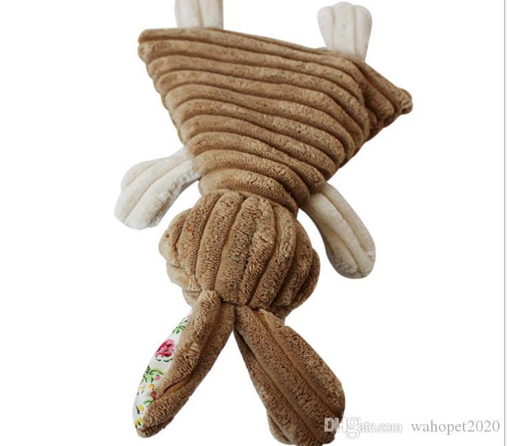Livraison gratuite doux chiot chien jouet squeaker jouets sonores jouets en peluche lapin éléphant mixte jouets /