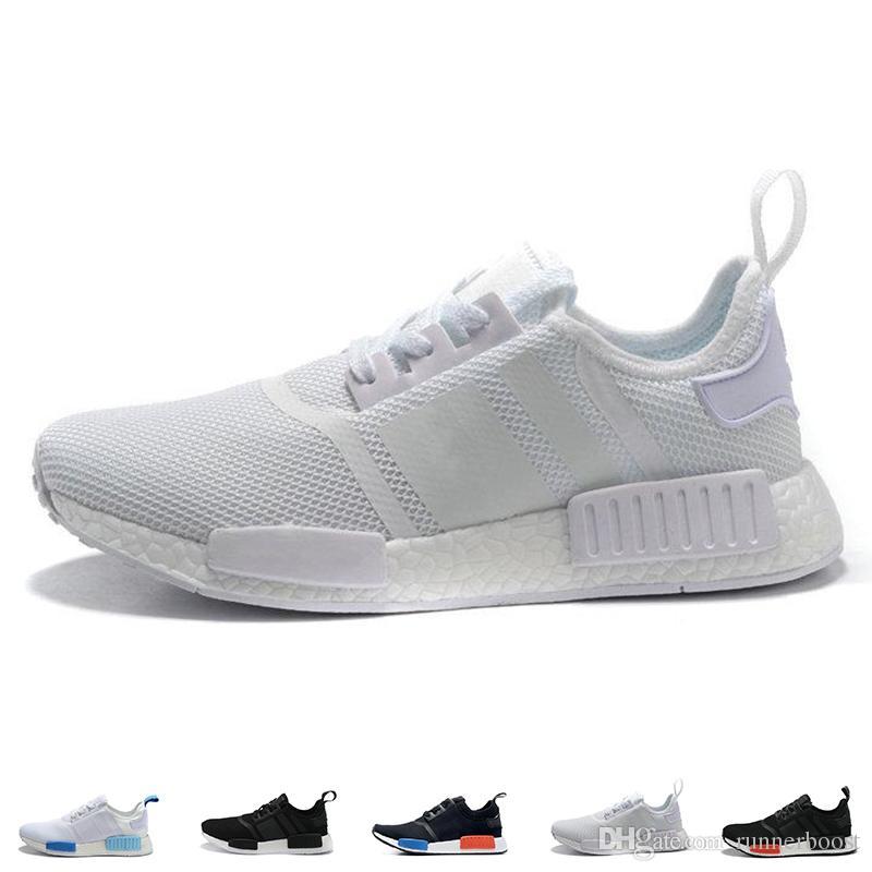 2018 Hot Brand NMD R1 Oreo Runner Nbhd Primeknit OG Triple Black White Running Shoes Men Women Nmd Runner Sports Shoe Size 36 45