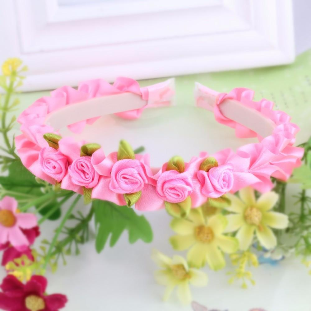 Fashion Stylish Hot Sale Flower Garland Floral Bridal Headband Hair Band Wedding Prom Flower Head Band Hair Accessories For Gift