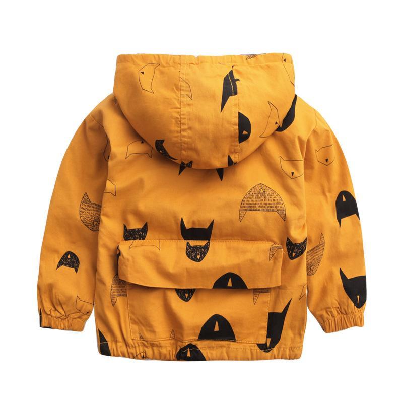 Karikatür Desen Erkek Bebek Kız Ceket Sonbahar Moda Marka Çocuk Kabanlar Palto Erkek Giysileri Çocuk Rüzgarlık Çocuklar Ceketler